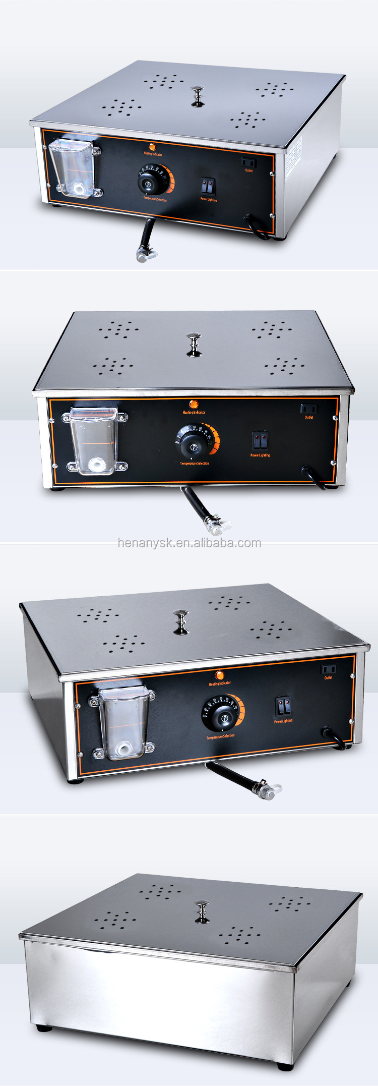Commercial Electric Desktop Steamed Stuffed Bun Furnace Small Steamer Four Hole Steam Furnace
