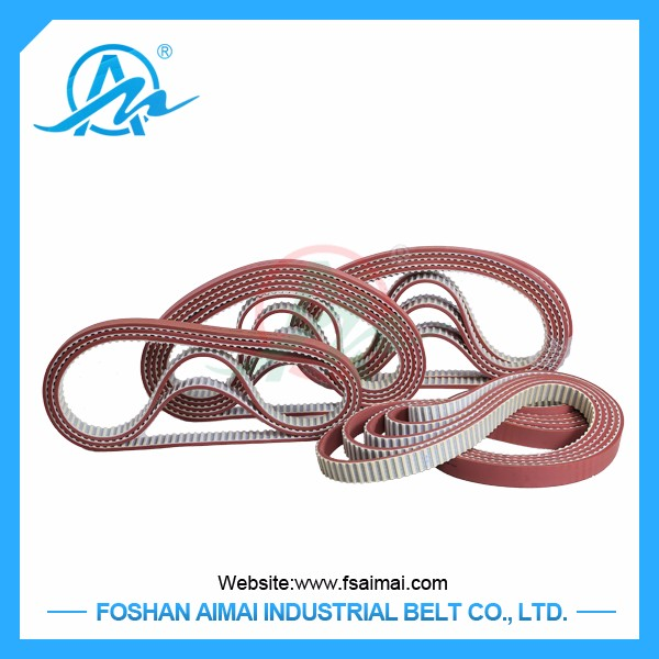 high quality Industrial pu timing belt /rubber coated seamless timing belt