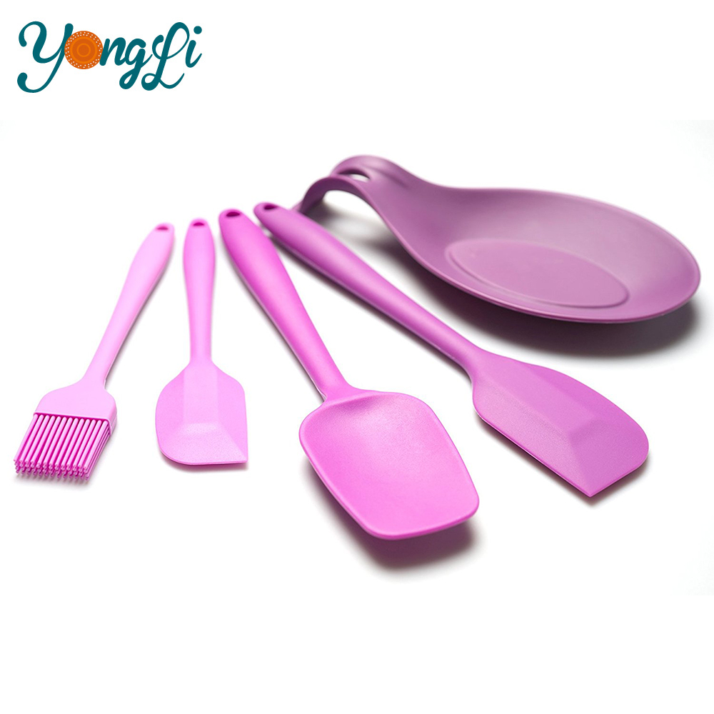 Chinese Wholesale FDA/LFGB 5 pieces Silicone Kitchenwares Utensils Set