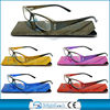 Fashion design newest style spring hinge computer reading glasses with shiny glasses bag fit CE/FDA BRP3907