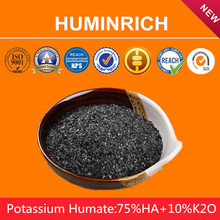 Huminrich High Water Holding Capacity (Retention) 100% Solubility Potassium Humate Raw Material