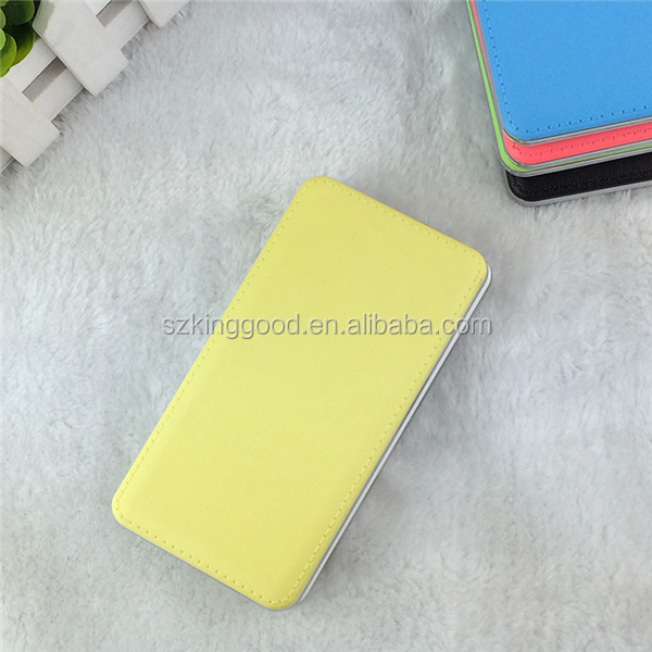 hot new design products wholesale price colorful mobile Ultra slim leather power bank 8000mAh