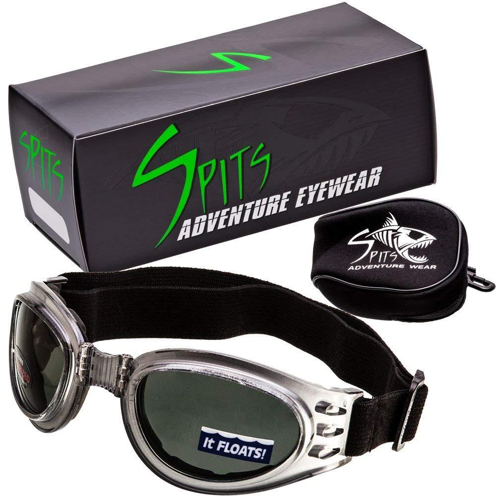 ed0fb68eca3 Get Quotations · Spits Adventure Folding Goggles POLARIZED Lenses Crystal  Gray Frame