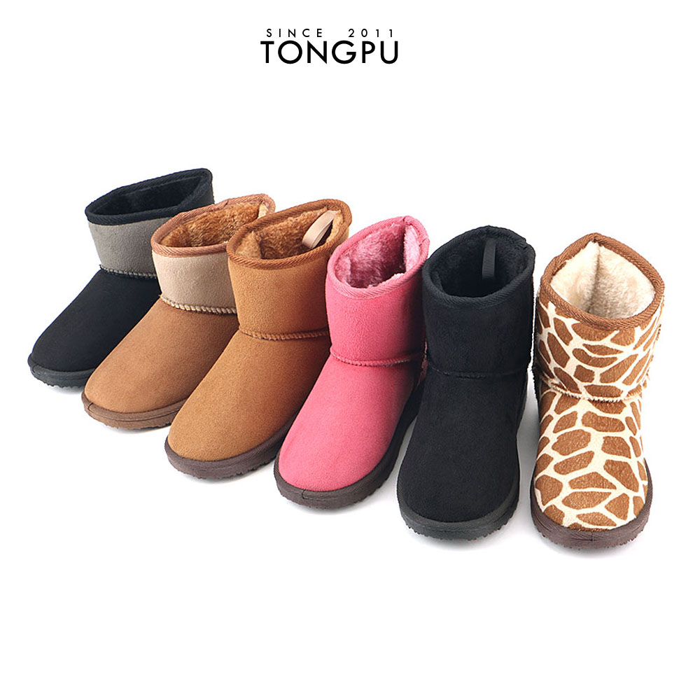 Super warm colorful winter snow ankle boot from china for men women kids