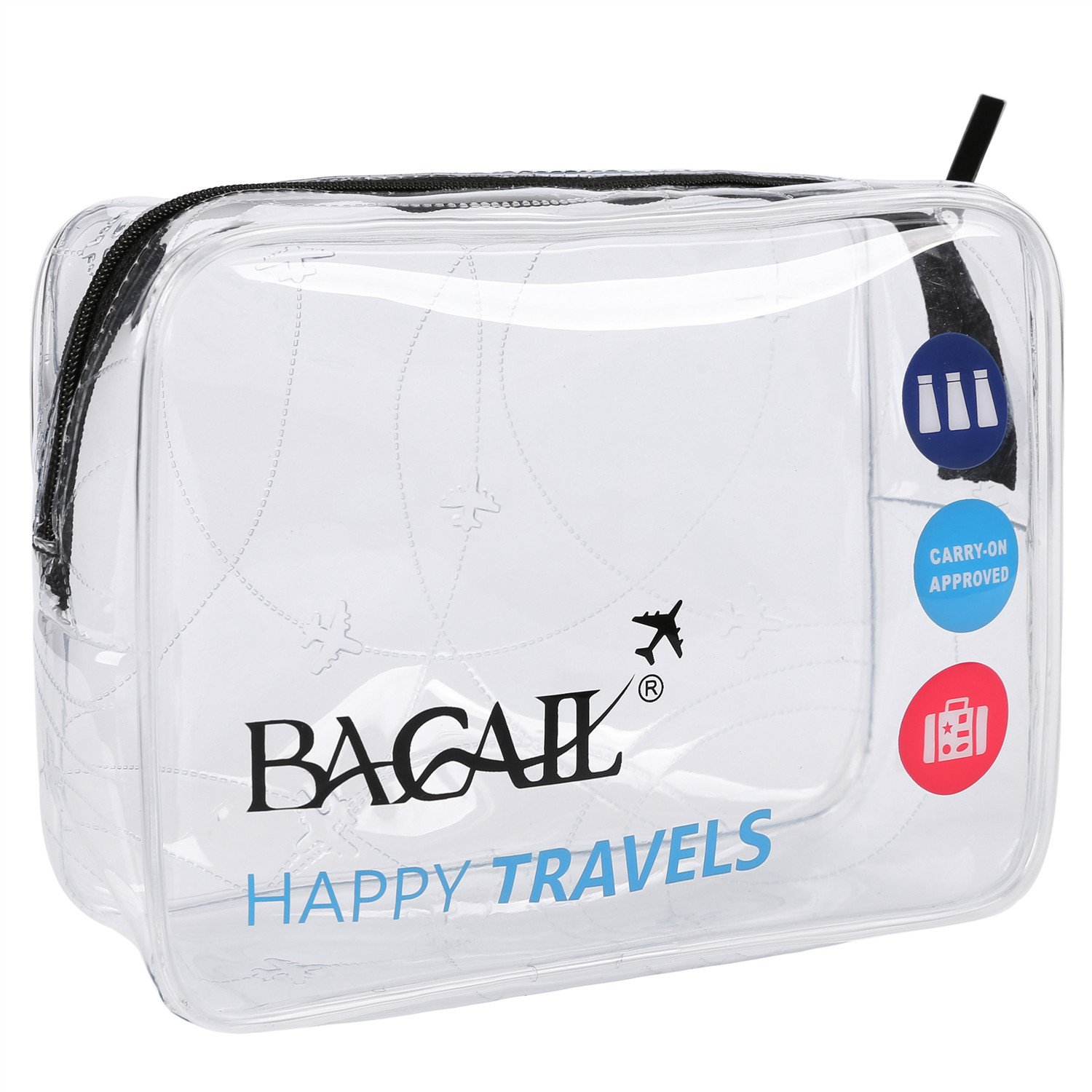 4265b43d9403 Get Quotations · Bagail Clear Travel Toiletry Bag