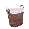 Customized Handmade Wicker Holder Log Firewood Storage Basket With Ear Handle