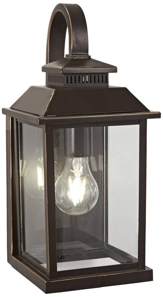 Minka Lavery Outdoor Wall Light 72591-143C Miner's Loft Exterior Wall Lantern, 1-Light 100 Watts, Oil Rubbed Bronze