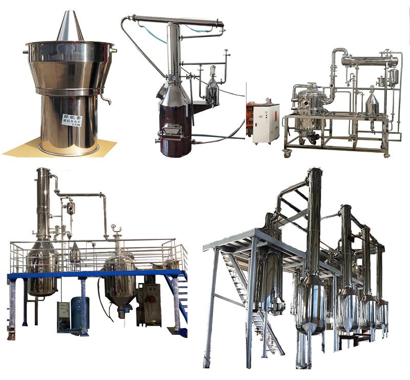 Fashionable design rose/peppermint/lavender essential Oil Steam distillation equipment