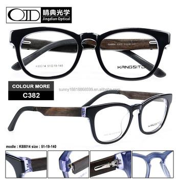 keyhole bridge designer color shade frame acetate wood leg eyeglasses 88014 - Wood Eyeglass Frames