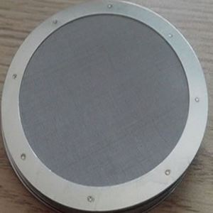 Plastic Extruder Filter Screen Disc For PP PE.Extruder Black Steel Wire Mesh Filter Discs Recycle