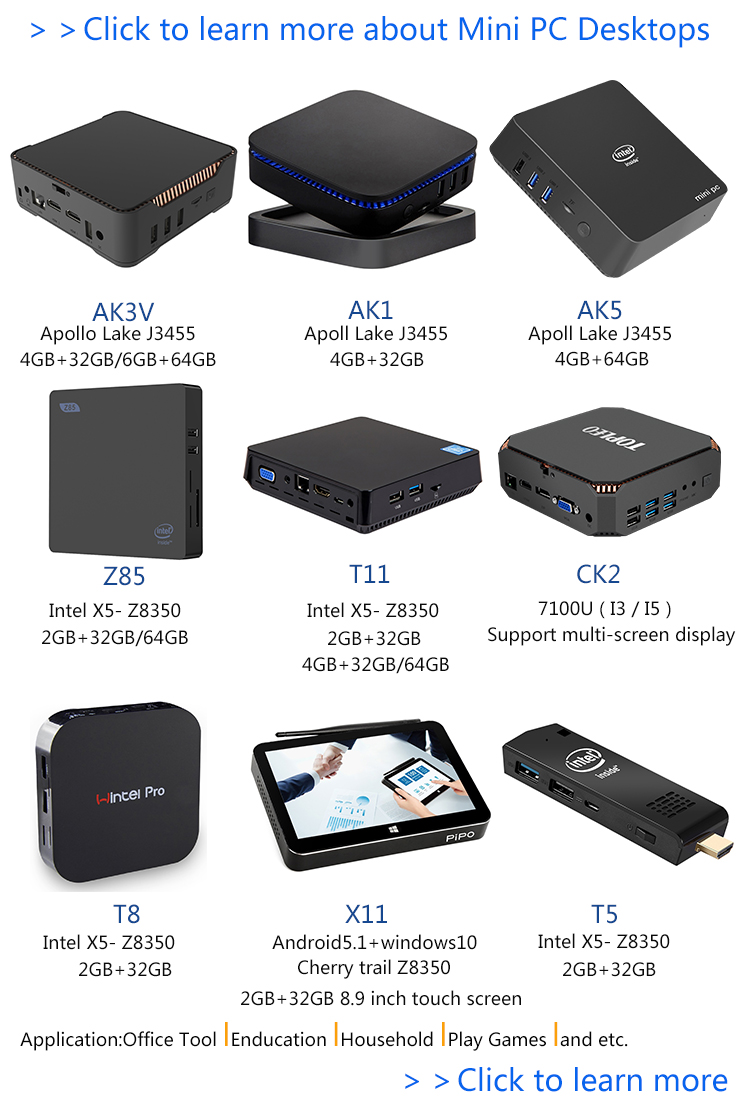 Intelligent control center linux pocket computer servers AK5 4GB 64GB host mini pc suitable for occasions