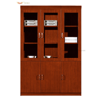 Hy C0411 Teak Veneer File Cabinet Wood Combination Lock Filing