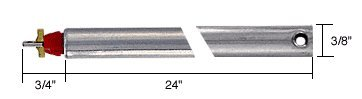 "C.R. LAURENCE FM2420 CRL 24"" Tubular Spiral Non-Tilt Window Balance Red Bushing"