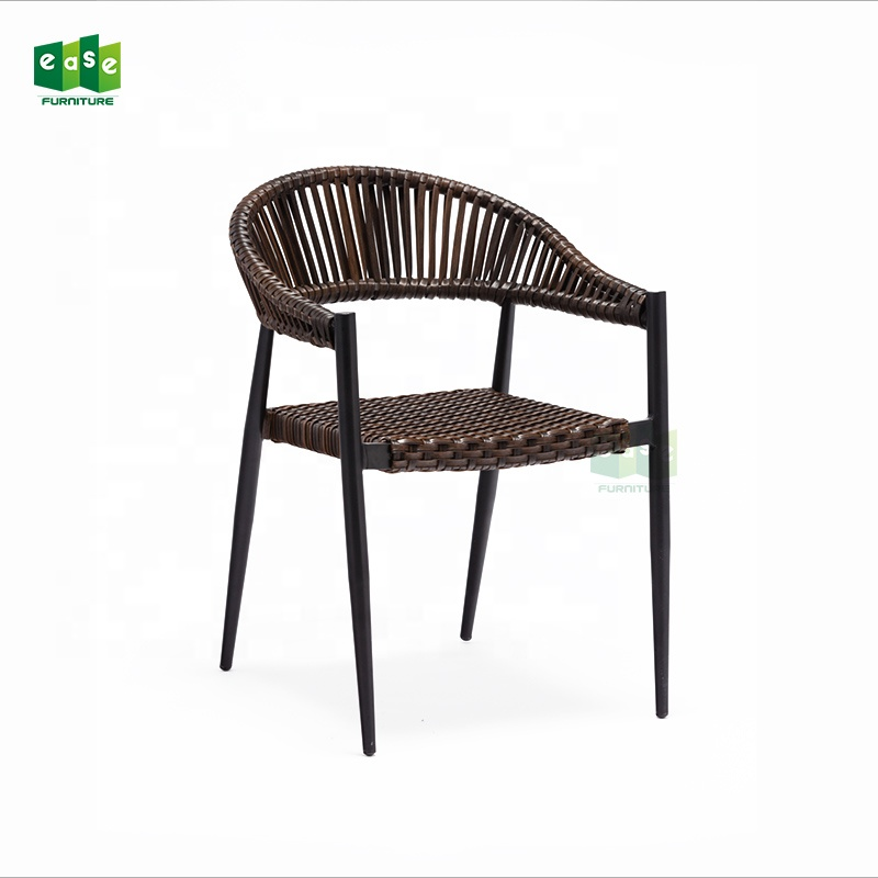 Rattan dinning outdoor wick chair relax low back