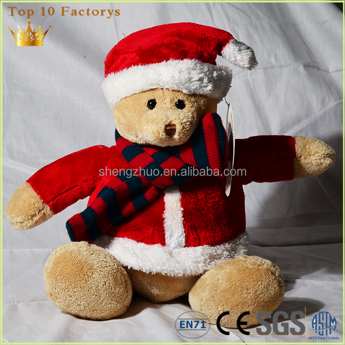 Christmas dressed suit new year Furry Folk life size huge teddy bear