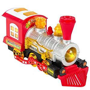 New Kids Toy Blowing Bubble Train Car Music, Lights and Bump'n'Go Battery Operated