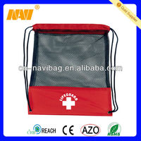 210D/420D polyester mesh bags with drawstring (NV-2055)