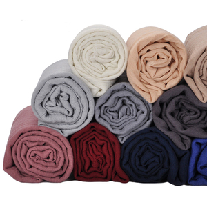 Top selling fashion muslim women hijab cotton crinkle hijab