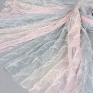Polyester screen printing mesh ruffle tulle fabric gradient color fabric rainbow tulle