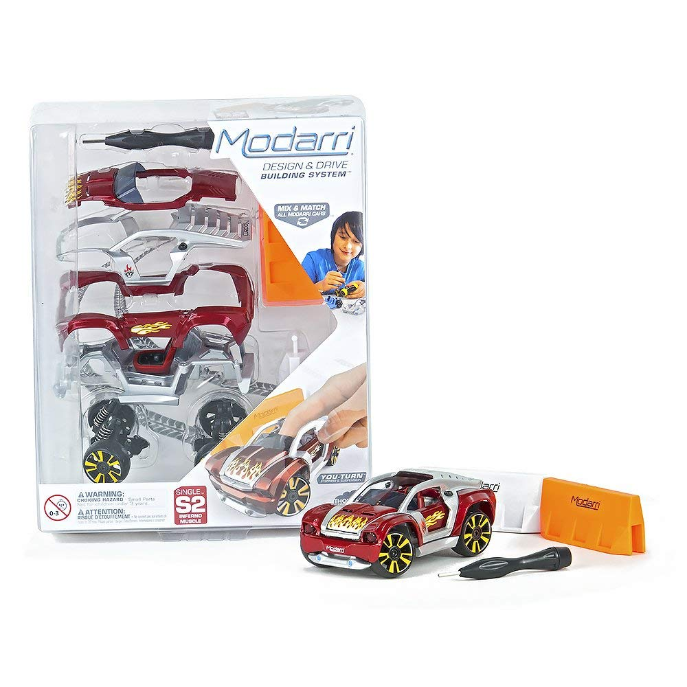Modarri S2 Inferno Muscle Car | STEM Educational Toy Cars | Make a model car - Design your own working race cars | Fun and Functional Building Toys for kids | Girls and Boys Gifts Age 5-10