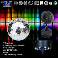 Halloween Brighter Really Glass mirror foam mirror ball with led motor for party use