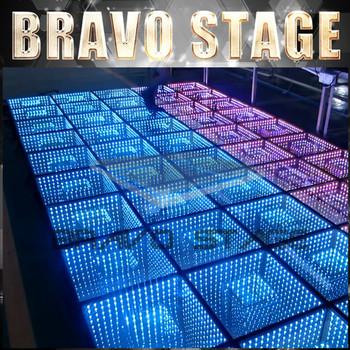 bravoステージアクリルledダンスフロアパネル重量用ディスコledビデオ