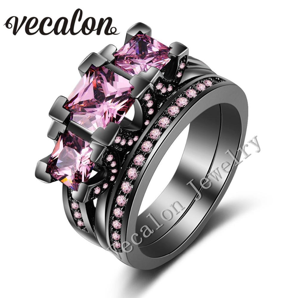 Aliexpress.com : Buy Vecalon Black Gold Filled Women