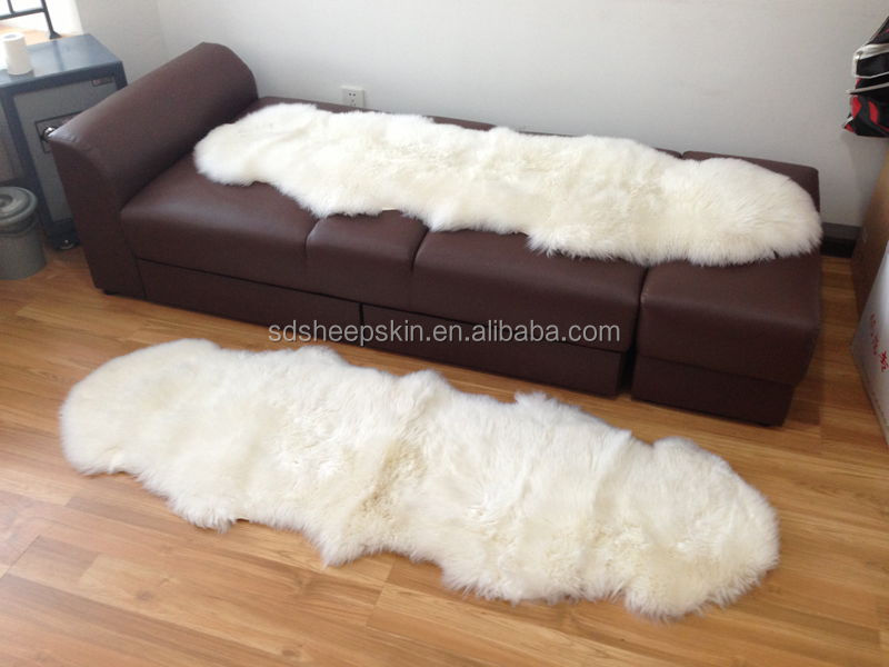 180 60cm New Patchwork Pure White Double Sheepskin Rug