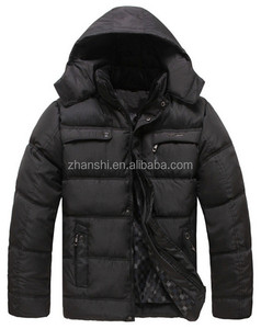 High Quality Winter Black Goose Down Coat For Middle-aged Men