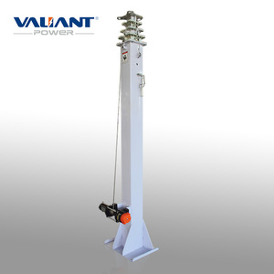Vehicle-mounted telescopic antenna mast extend to 9 meters