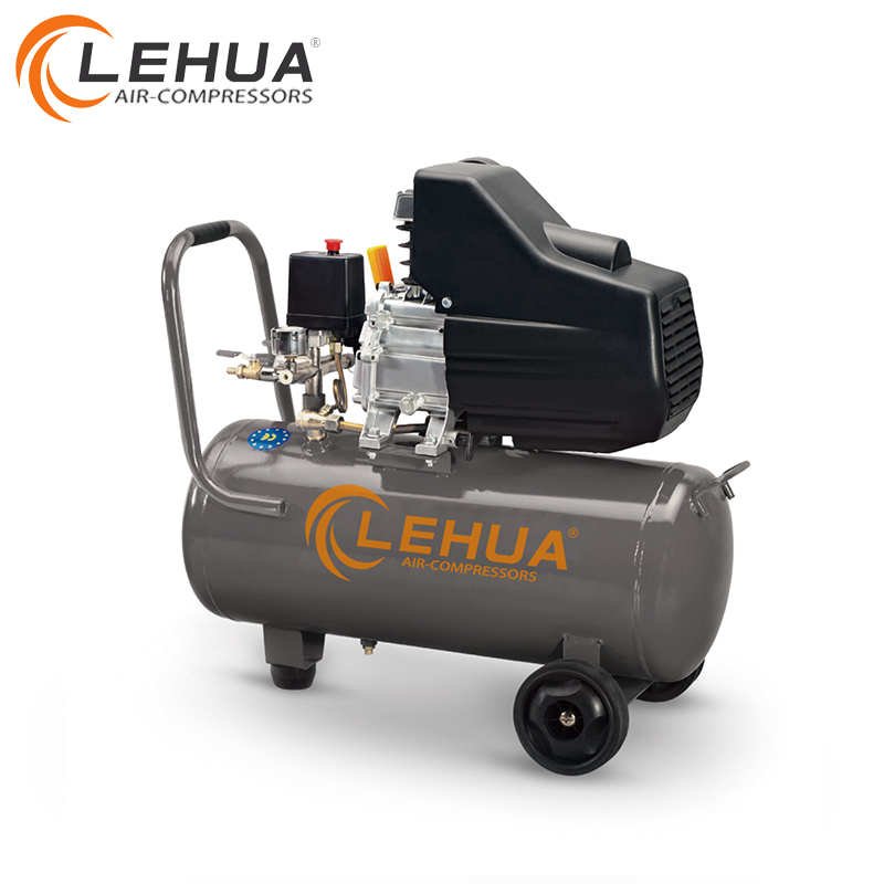 50L 2HP 1.5KW 8Bar 120L/min Direct driven piston air compressor for pumping air into tires