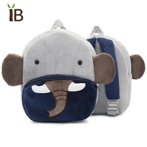 Male plush toy children school backpack for teenagers