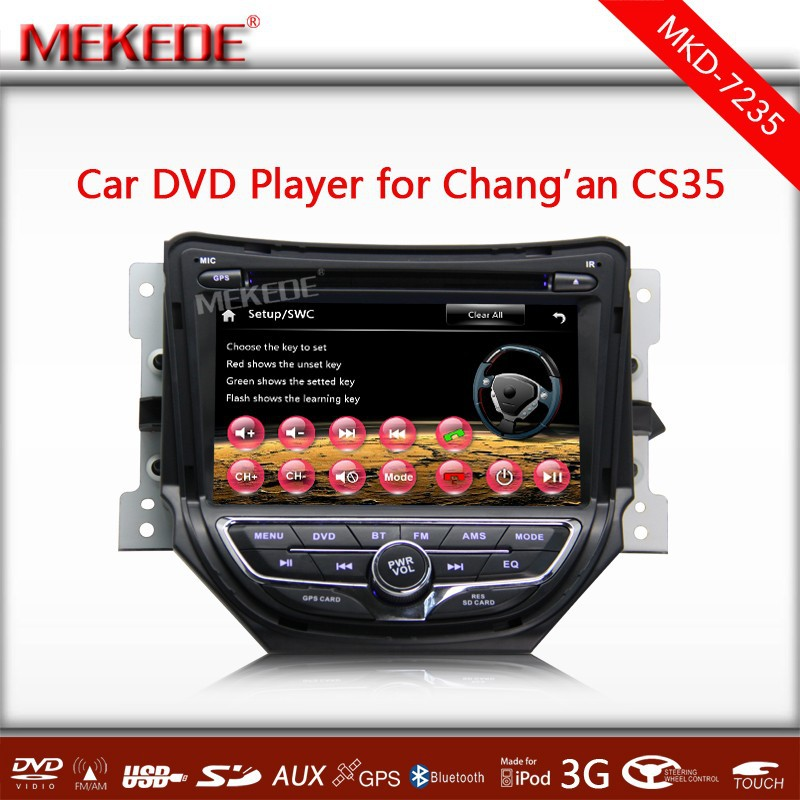 Latest WincCE6.0 CORE System Car Multimdia Player For 2014 Changan CS35 Support DVD player GPS Navigator Radio Bluetooth ATV....