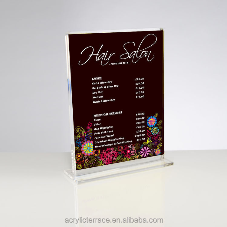 Free Standing Double Sided Clear Acrylic Perspex Plastic Frame - Customise