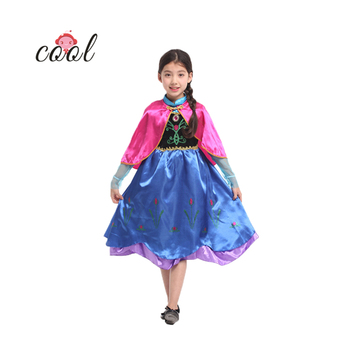 Blue retro princess kids costumes child girls fancy dress fairy dresses girls chinese new year mascot costumes