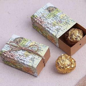 World Map Wedding Favors Chocolate Boxes Baby Shower Candy Box Birthday Gifts Event Party Decoration Supplies