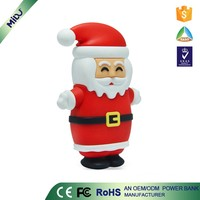 China Supplier Within 12months RoHS custom logo Santa Claus PVC Material christmas gift sets cheap