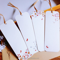 Custom printing logo design paper card hang tag bookmark