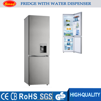 Merveilleux 275L Double Door Bottom Freezer Refrigerator Freezer With Water Dispenser