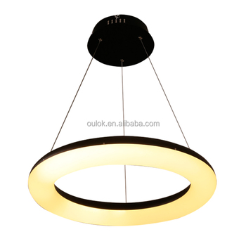 Moderne Lampe Führte Schwarz Einen Ring Förmige Acryl Und Aluminium  Pendelleuchte Verstellbare Hängende Kronleuchter Leuchte