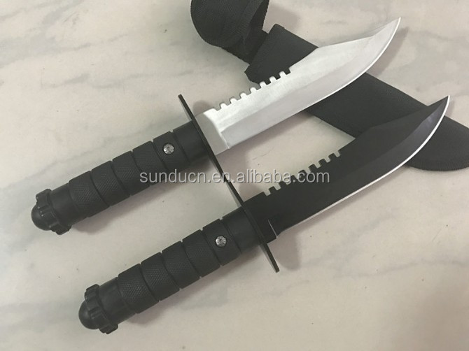 440 Stainless Steel Blade Plastic Handle Hunting Knife Bowie knife