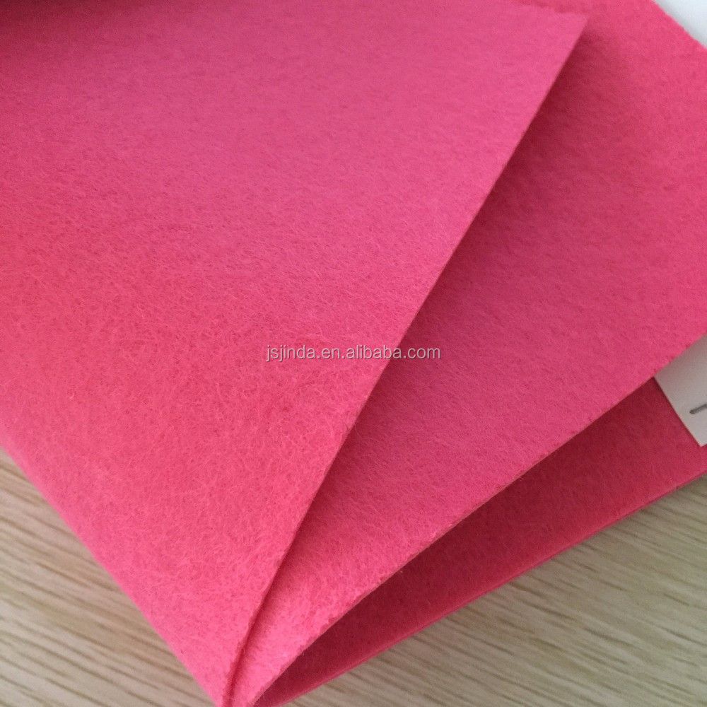 different size colored polyester felt fabric for handworks