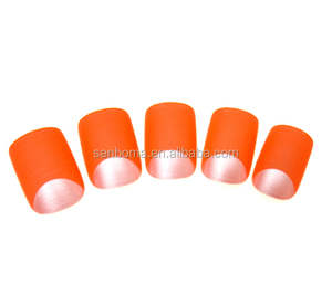 Nail Art Design Fluorescent Orange Color Frech Fake Nail Tips Wholesale False Nails In Chana