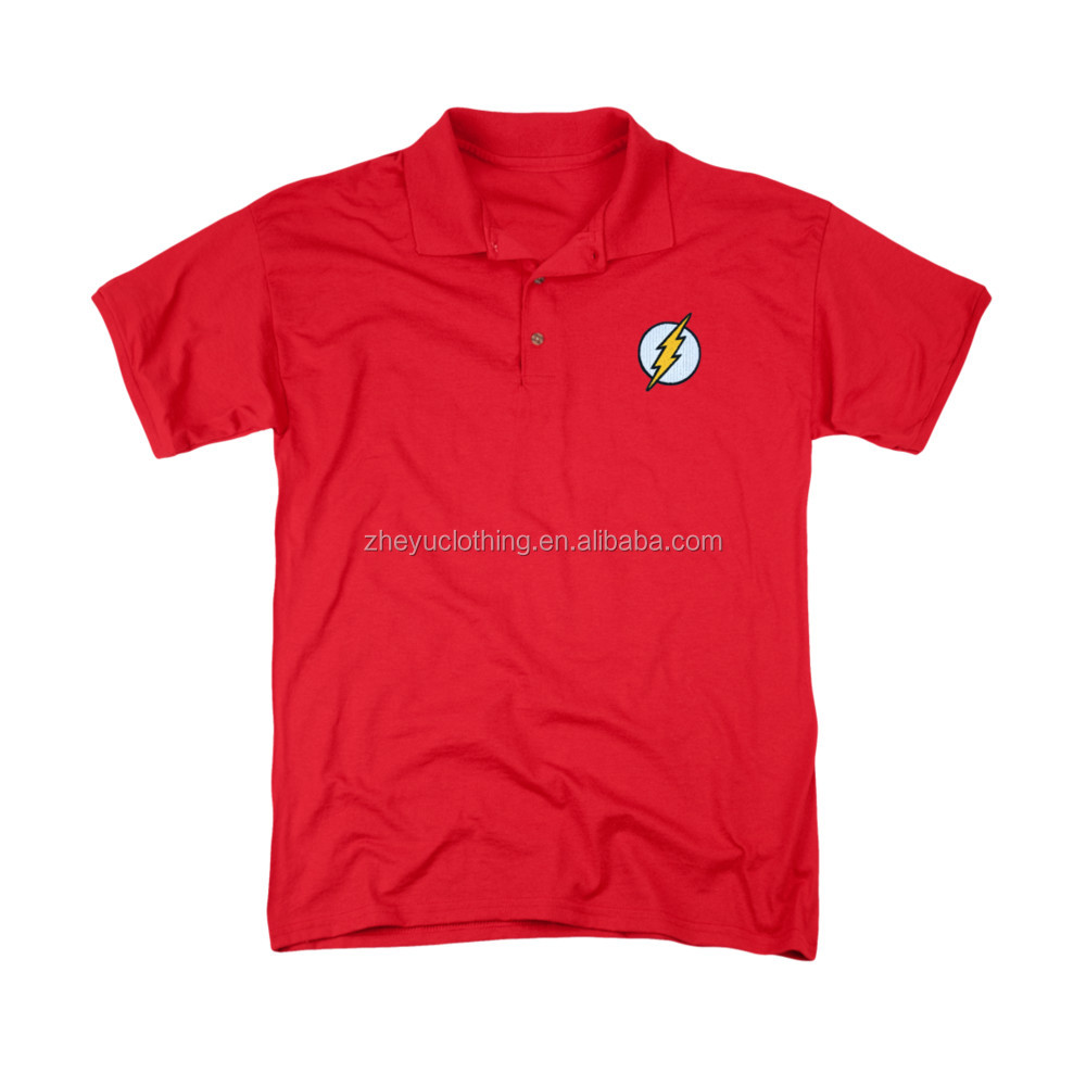 OEM Cotton Kid polo shirt red cotton top quality jersey polo shirt