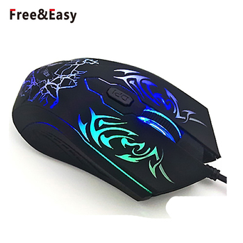 6D Customized LED Wired Gaming Mouse With Fire Button