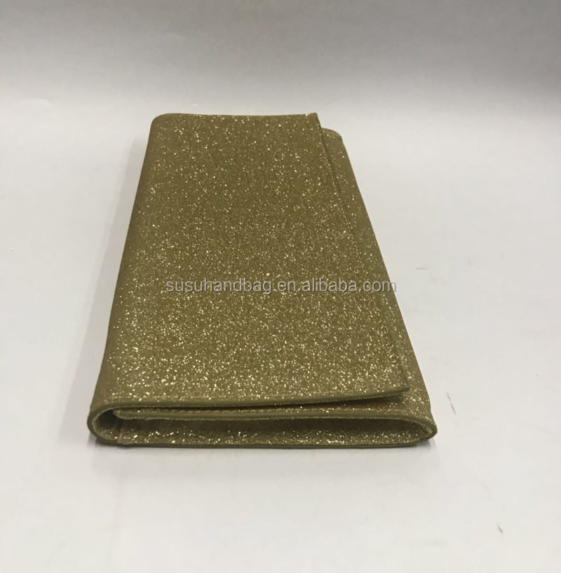 Gold Glitter Dazzling Clutch Evening Party Bag Handbag Purse