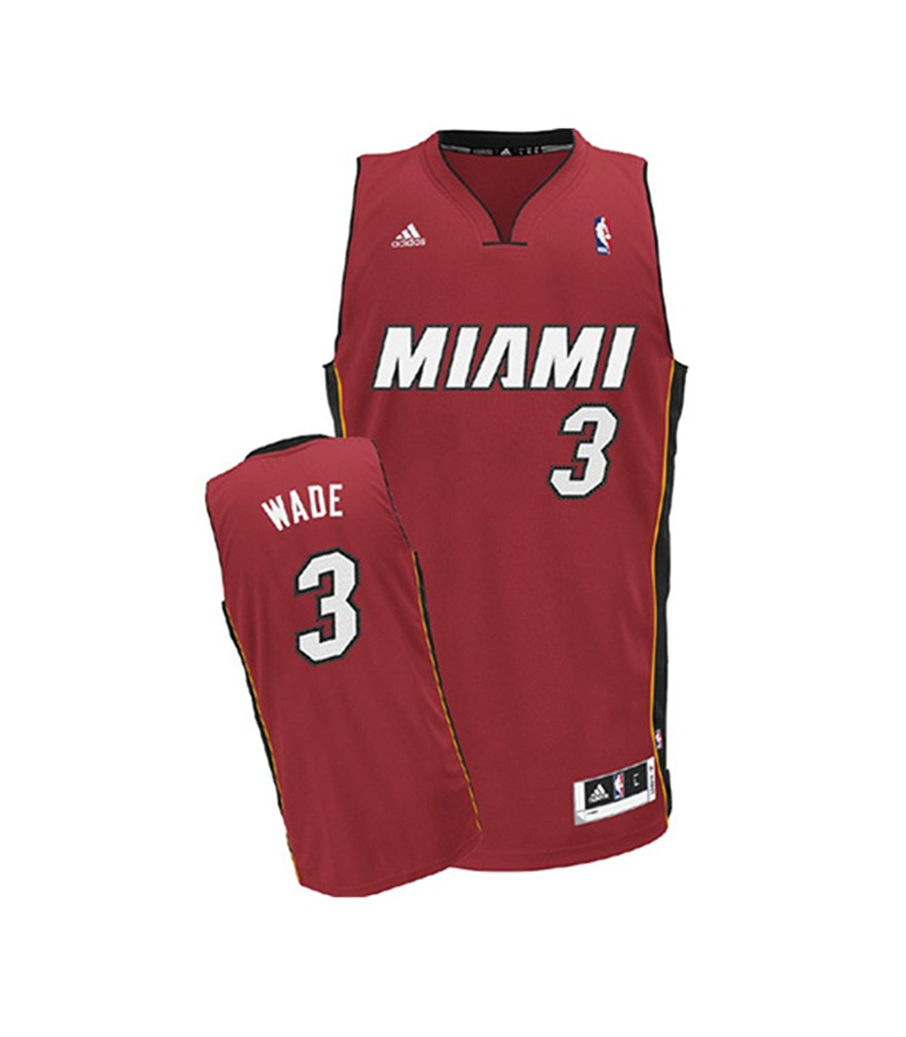 db94539da Get Quotations · Mens Dwyane Wade  3 Miami Heat Swingman Jersey Red