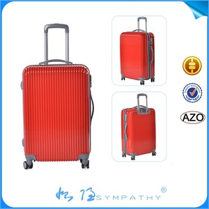 cool wholesale Fashion design hard shell trolley PC suitcase your own logo custom abs suitcase