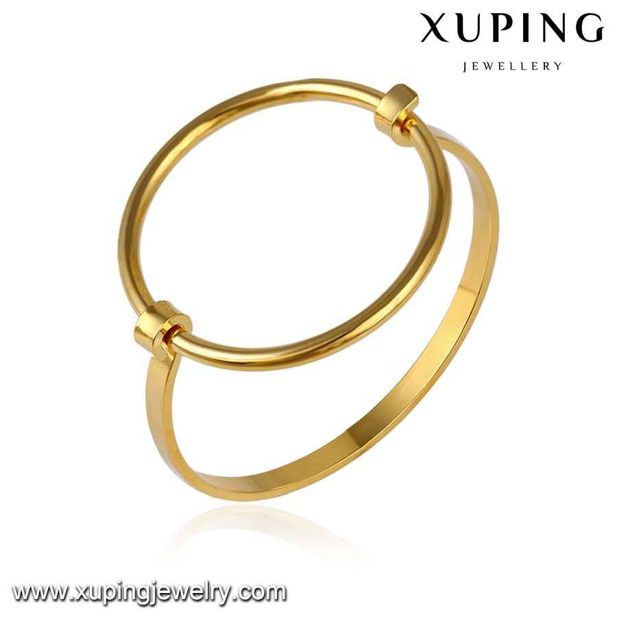 51649 Xuping Gold Jewellery Baby Simple Gold Bangles Designs Buy