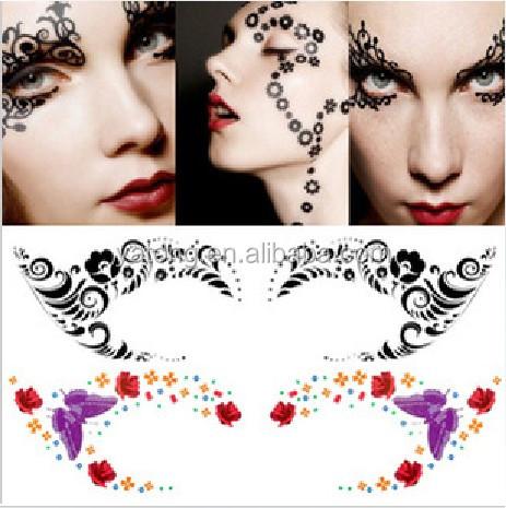 Eye decals makeup